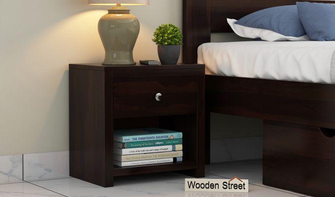 Denzel Bedside Table (Walnut Finish)-1