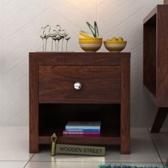 Denzel Bedside Table (Walnut Finish)