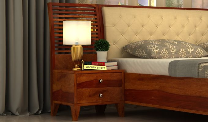 Dorian Bedside Table (Honey Finish)-1