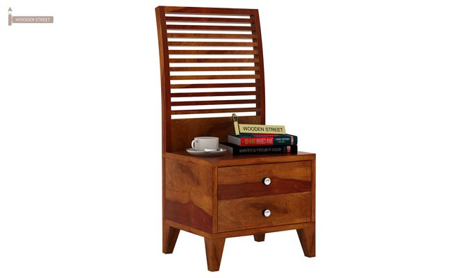 Dorian Bedside Table (Honey Finish)-3