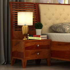 Dorian Bedside Table (Honey Finish)