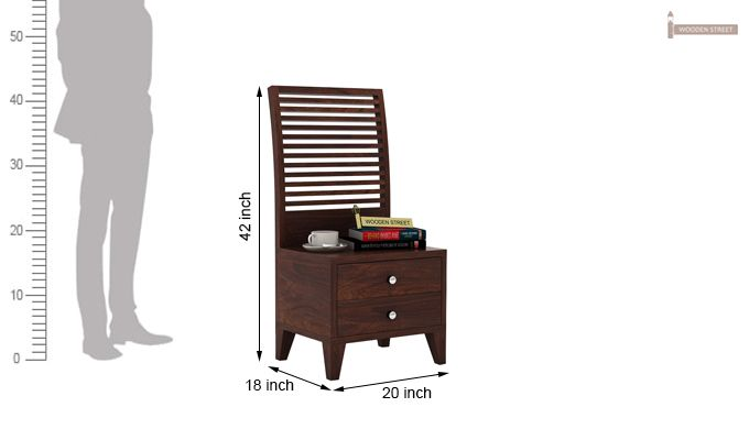 Dorian Bed With Storage (King Size, Walnut Finish)-11