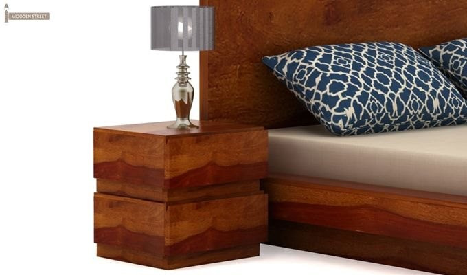 Florian Bedside Table (Honey Finish)-2