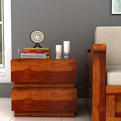 Florian Bedside Table (Honey Finish)