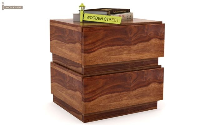 Florian Bedside Table (Teak Finish)-2