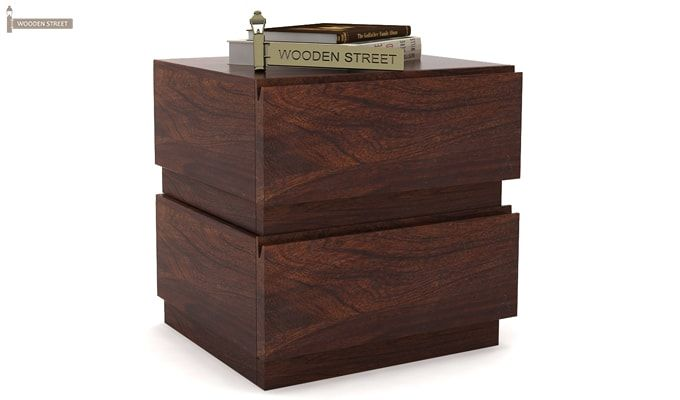Florian Bedside Table (Walnut Finish)-2