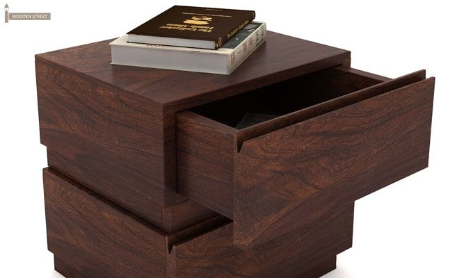 Florian Bedside Table (Walnut Finish)-5