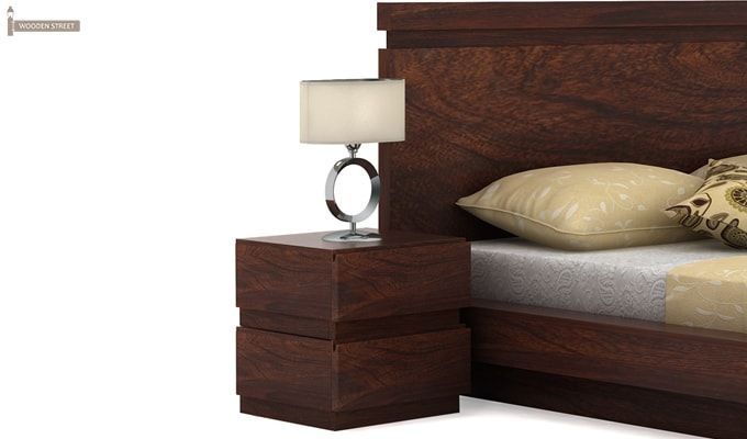 Florian Bedside Table (Walnut Finish)-1