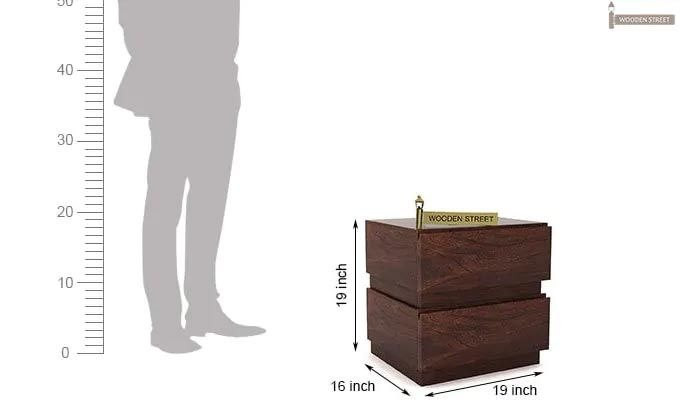 Florian Bedside Table (Walnut Finish)-6