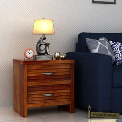 Gayle Bedside Table (Honey Finish)