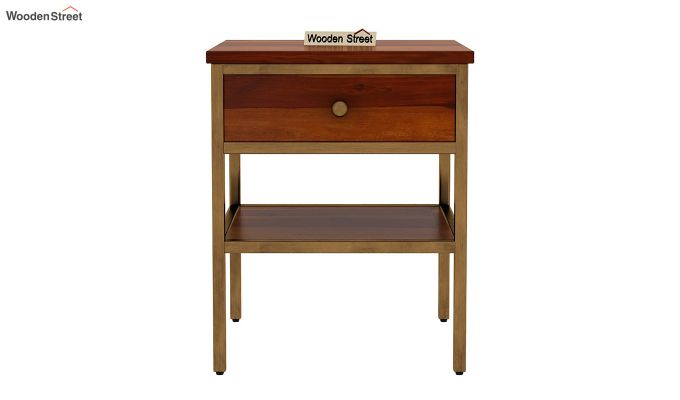 Grapho Bedside Table (Honey Finish)-3