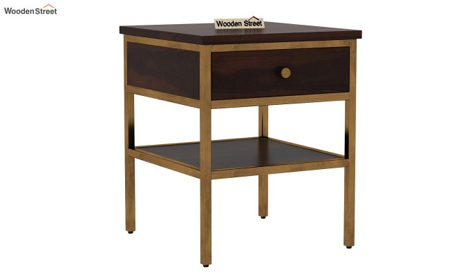 Grapho Bedside Table (Walnut Finish)-2