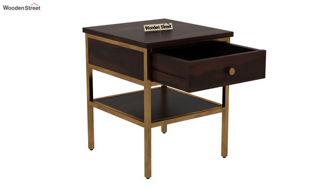 Grapho Bedside Table (Walnut Finish)-4