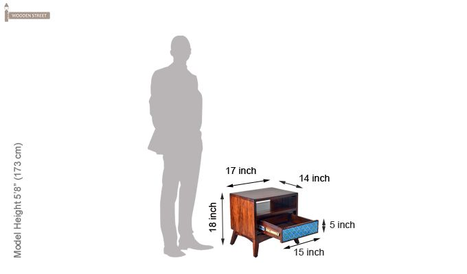 Harry Bedside Table (Teak Finish)-8