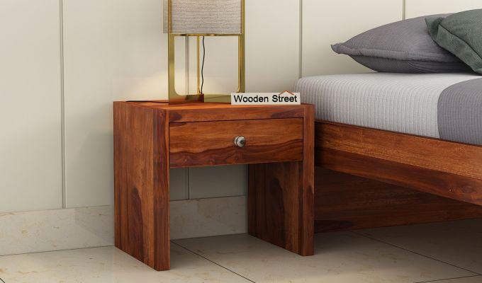 Hayden Bedside Table (Honey Finish)-1