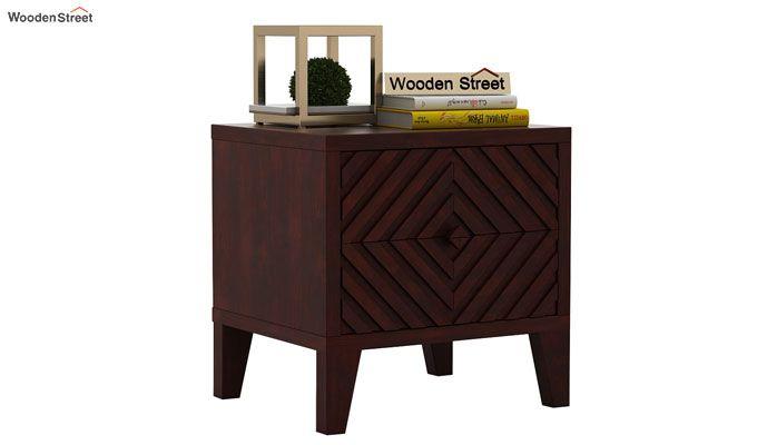 Horton Bedside Table (Mahogany Finish)-2