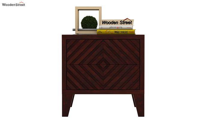 Horton Bedside Table (Mahogany Finish)-3