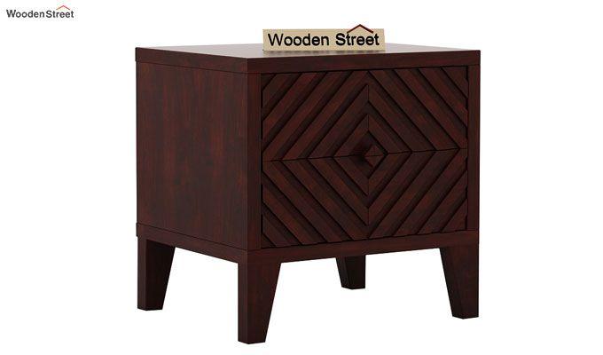 Horton Bedside Table (Mahogany Finish)-4