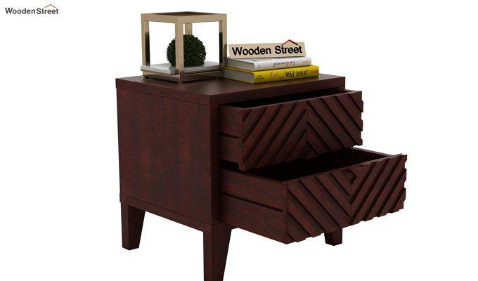 Horton Bedside Table (Mahogany Finish)-5