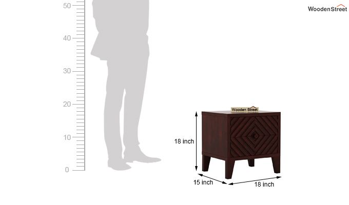 Horton Bedside Table (Mahogany Finish)-6
