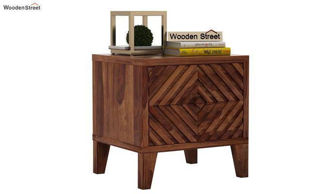 Horton Bedside Table (Teak Finish)-1