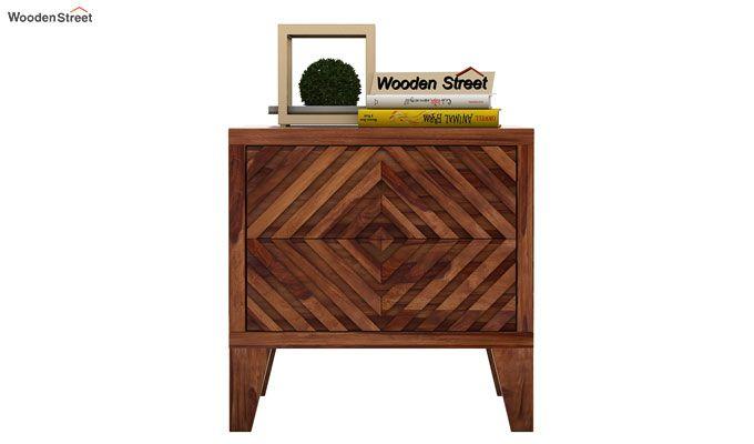 Horton Bedside Table (Teak Finish)-2