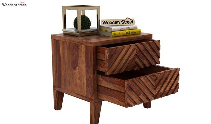 Horton Bedside Table (Teak Finish)-4