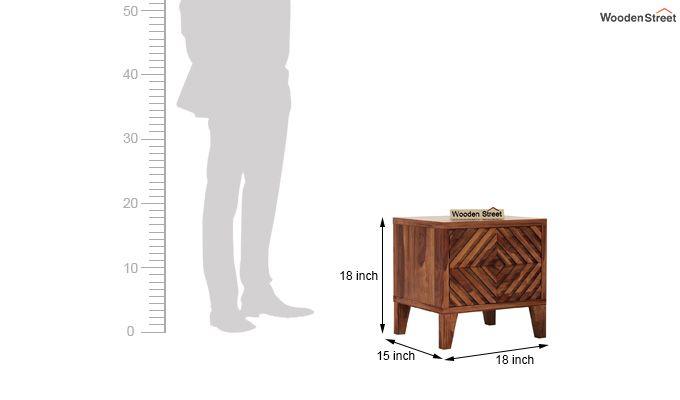 Horton Bedside Table (Teak Finish)-5