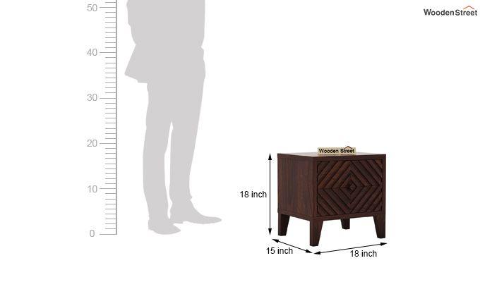 Horton Bedside Table (Walnut Finish)-5