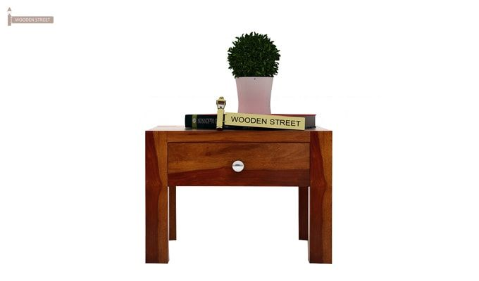 Hout Bedside Table (Honey Finish)-3