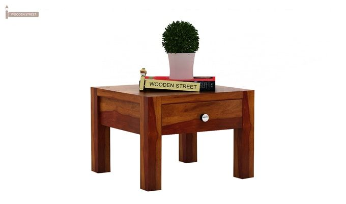 Hout Bedside Table (Honey Finish)-2