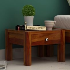 Hout Bedside Table (Honey Finish)