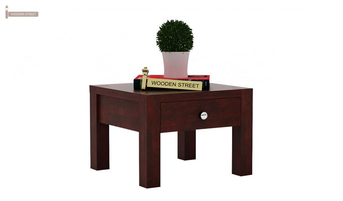 Hout Bedside Table (Mahogany Finish)-1