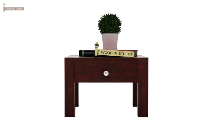 Hout Bedside Table (Mahogany Finish)-2