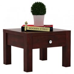 Hout Bedside Table (Mahogany Finish)