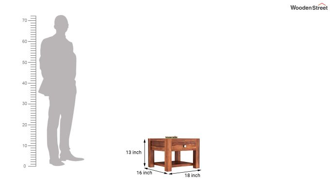 Hout Bedside Table (Honey Finish)-4