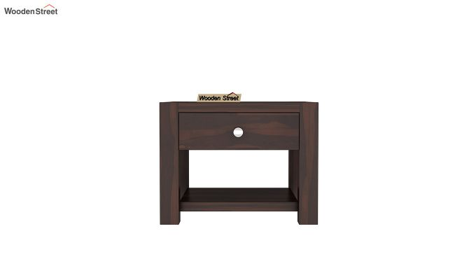 Hout Bedside Table (Walnut Finish)-3