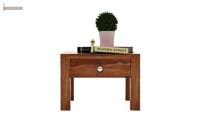 Hout Bedside Table (Teak Finish)-2