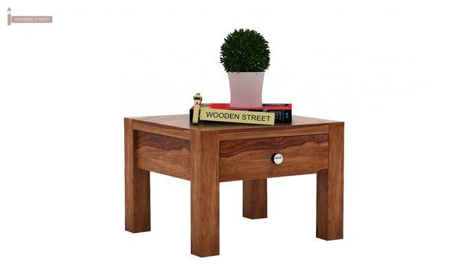 Hout Bedside Table (Teak Finish)-1