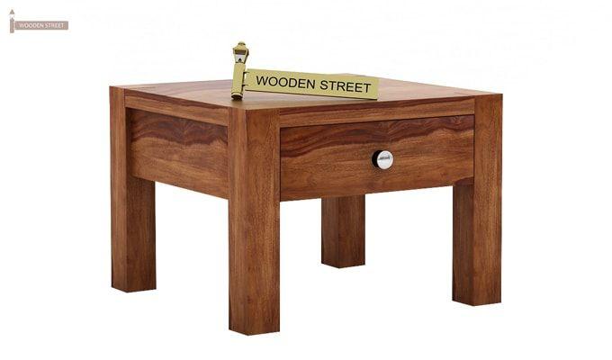 Hout Bedside Table (Teak Finish)-3