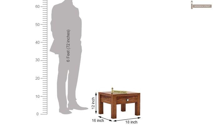 Hout Bedside Table (Teak Finish)-4