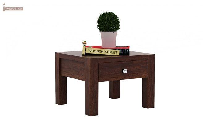 Hout Bedside Table (Walnut Finish)-1
