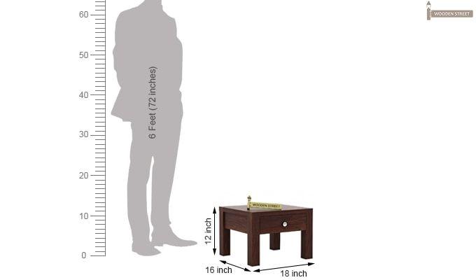 Hout Bedside Table (Walnut Finish)-4