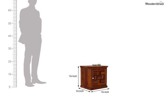 Howler Bedside Table (Honey Finish)-5
