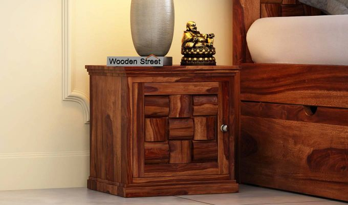 Howler Bedside Table (Teak Finish)-1