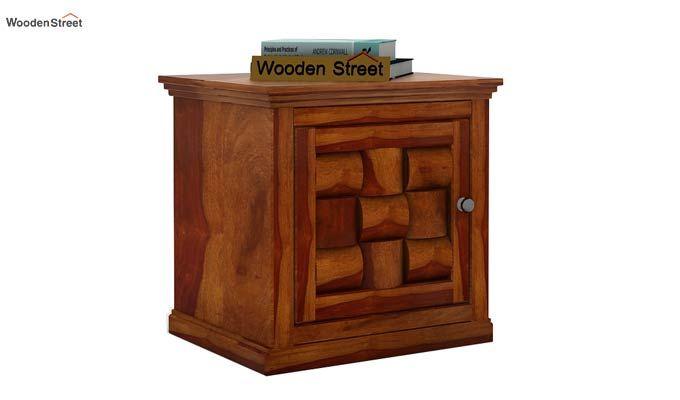 Howler Bedside Table (Honey Finish)-2