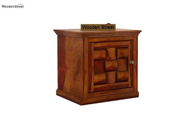Howler Bedside Table (Honey Finish)-4