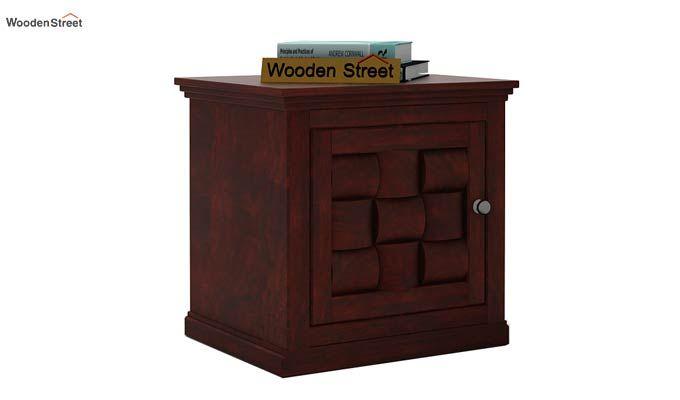 Howler Bedside Table (Mahogany Finish)-1