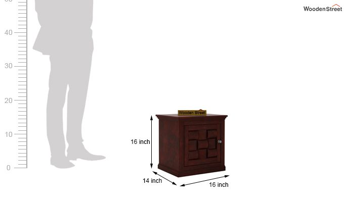 Howler Bedside Table (Mahogany Finish)-4
