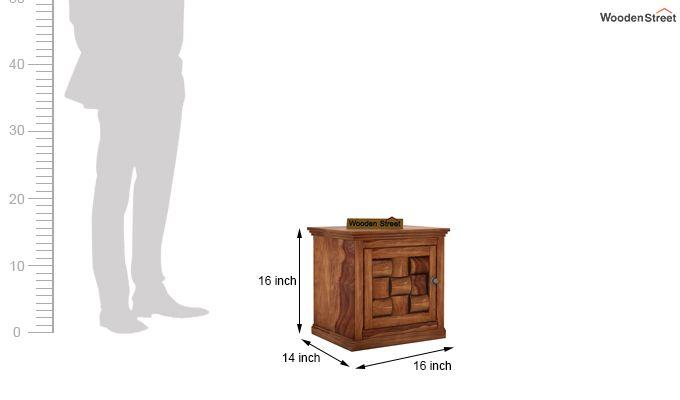 Howler Bedside Table (Teak Finish)-4